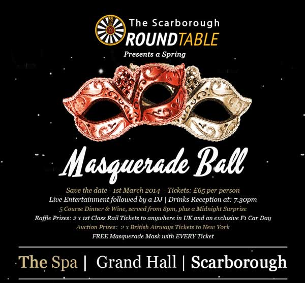 round table masquerade ball
