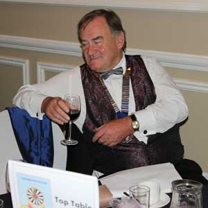 Chairman Richard takes a well-earned snooze - during the Gala Dinner